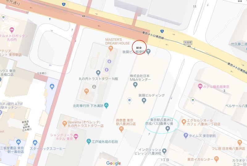 東京駅バス乗り場地図